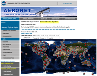 AERONET Screenshot