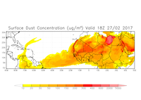 Dust forecasts in the Caribbean