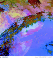 Meteosat RGB-Dust product for the Middle East